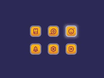 Icons 2021 uiux application app icon set icons minimal