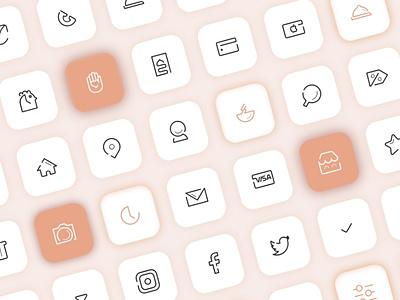 Icon Set ux 2021 design ui illustration flat logo vector mobile app icon mobile app application app icongraphy icon set icons minimal