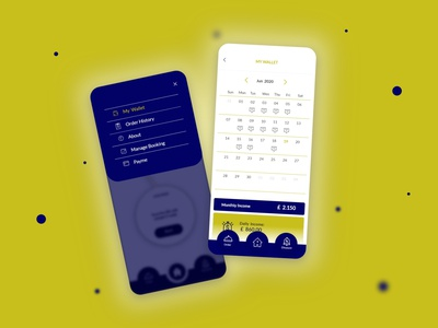 My Wallet minimal design user interface application app mobile app ux ui design