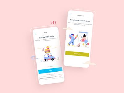 YMH Invite Friends Design mobile application mobile mobile app pick-up food app share invite friends app ui app ui design application app user interface design ui design ux