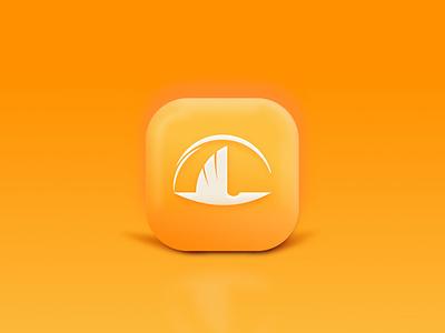Laklak Group ui stork bird illustration yellow 3d icon logo app vector minimal design