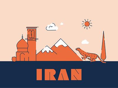 Minimal Iranian Heritage Symbols iranian icons icons building cheetah tree graphic design heritage symbols map design iran map illustration vector minimal design
