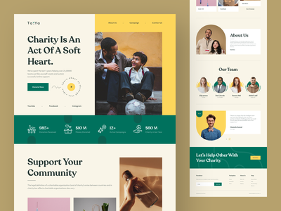 Charity Web Landing Page child fundraise charity fund connection donation community help web page landing ngo fundraiser poor support donate nonprofit web website tanim desktop charity