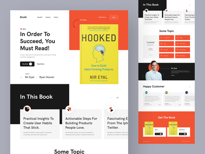 Online Book Store Landing Page tanim learning education 2021 trend header ui interface minimal hooked library online book book store store book ebook home page web web design website ui landing page