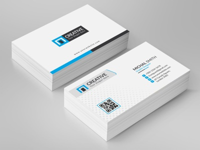 Corporate Business Card Template flyer graphic corporate professional official social media print ready modern creative business card ux ui website web typography vector design branding logo illustration