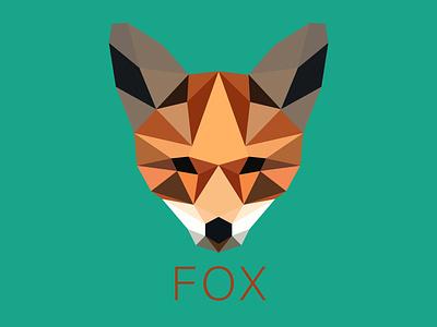 Fox Low poly illustrator abstract renard fox animal logo low poly amateur beginner