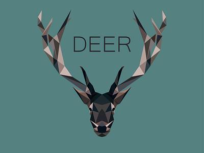 Deer Low poly low poly cerf deer illustrator abstract illustration logo animal amateur beginner
