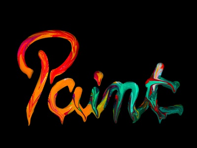 Painting lettering calligraphy lettering painting paint colors photoshop design vector amateur beginner