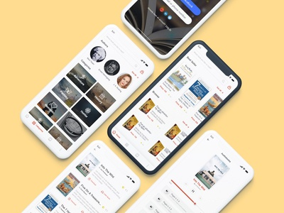 Mobile android and ios application for online books 📚 website illustrator typography web app icon ui ux design illustration