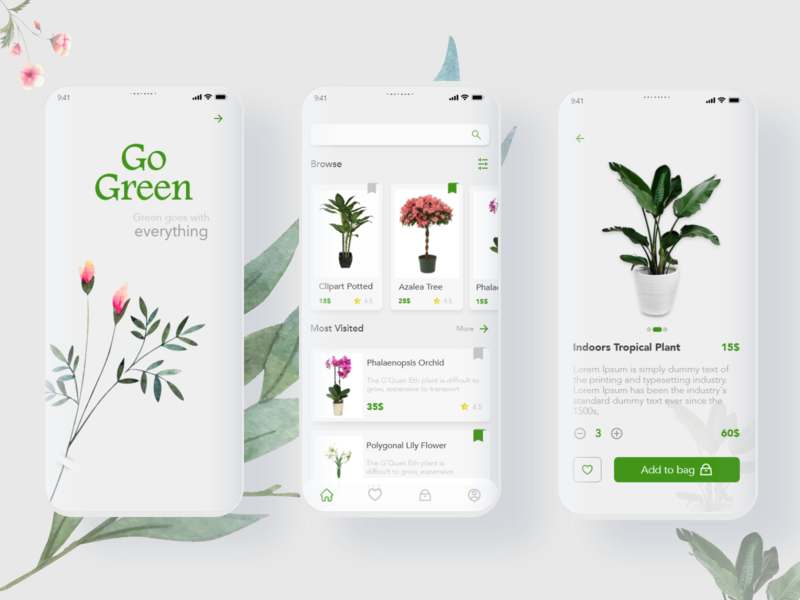Plants App plantsapp plantsapp flowersapp flowersapp adobe photoshop adobe xd logo website web ux ui illustrator illustration design app
