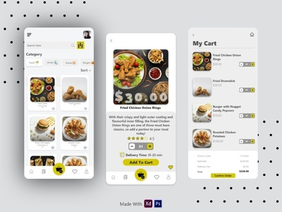 Food Delivery App food and drinks food and drink food app animation icon typography minimal app ui design