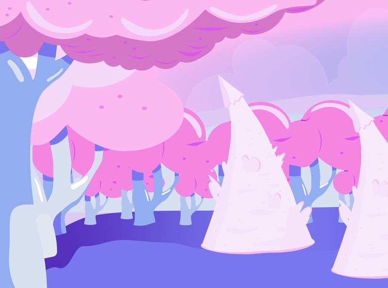 CUTE GAME BACKGROUND  * brought to life * landscape illustration background game design game level game art