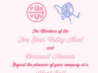 FRVH Hunt Ball Invitation