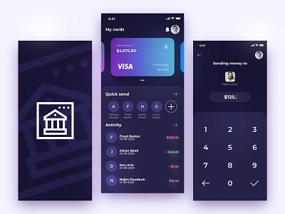 Banking App UI Design banking dashboard banking loadscreen transfer dashboard bank account minimal icon ui designer ui design banking app bank app bank app ui 4k design
