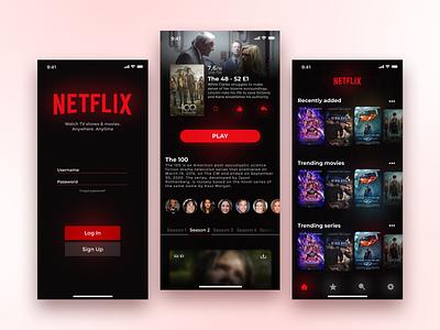 Netflix UI/UX Design netflix and chill user experience movie interface design netflix interface design uidesign uiux ui rebranding douarts movie app redesign netflix rebrand
