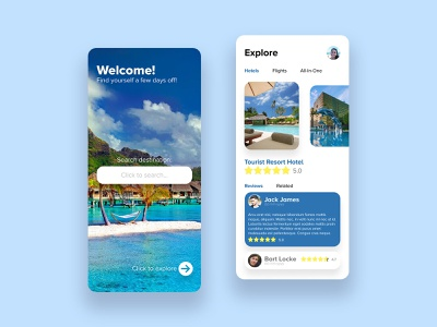 Vacation Booking App - UI/UX Design hotel design app interface design user interface user experience interfacedesign concept douarts dashboard ui design app ui ux 4k booking form vacations booking app vacation rental vacation design