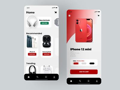 Online Shopping UI Design app web 4k ux ui uxdesign user experience interfacedesign uidesign online shopping online shop online store douarts shopping online design