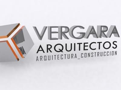 Letra Volumetrica para Vergara Arquitectos model3d 3dsmax minimal typography branding design