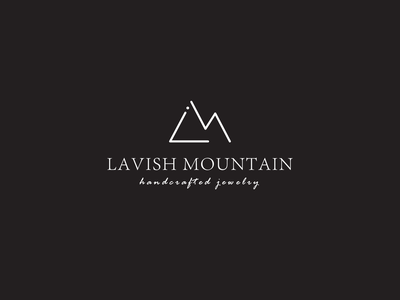 lavish mountain jewelry creative logo corporate vector awesome latter logo mountain logo flat simple jewlery branding unique professional elegant