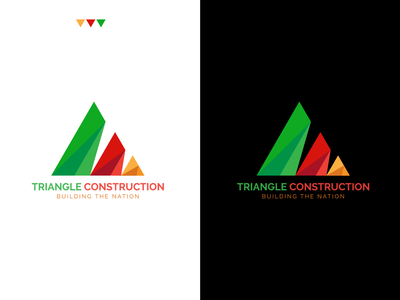 Triangle construction company logo logo design illustration unique elegant awesome logo branding creative building corporate professional construction logo