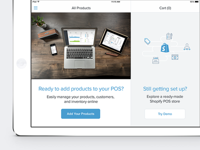 Shopify POS Onboarding ipad pos ios onboarding retail software shopify cta