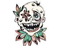 Leafy clown-like person