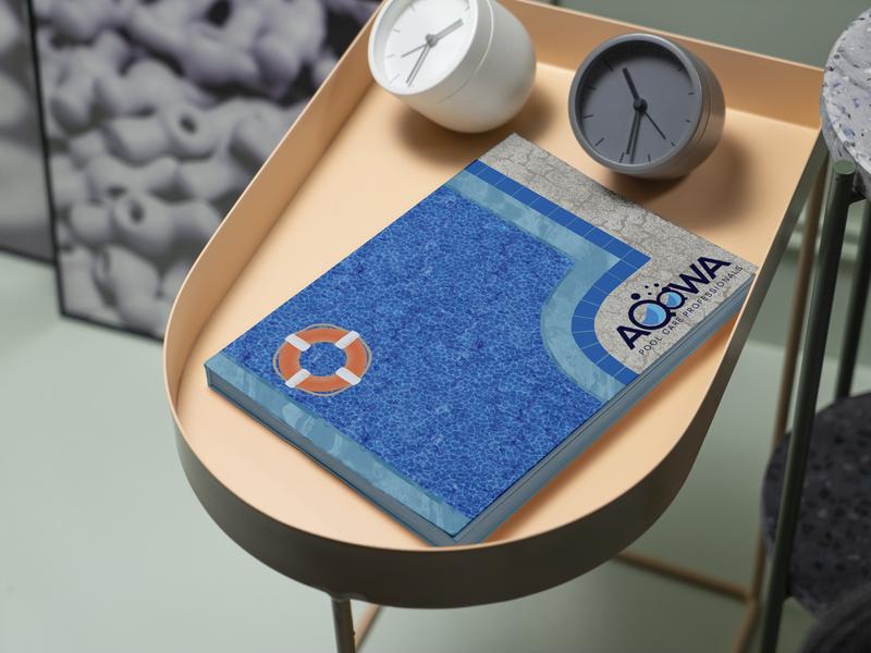 """Aqqwa"" water float branding design digital art 2d illustration pool flyer catalog"