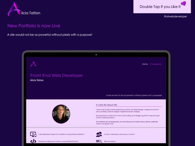 New portfolio now live @ www.atwebdeveloper.co.uk branding website webdeveloper webdesigner webdesign web ux ui logo design