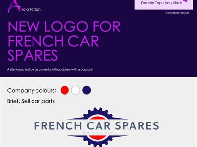 New Logo for French Car Spares illustrator icon branding webdesigner webdesign web ux ui logo design