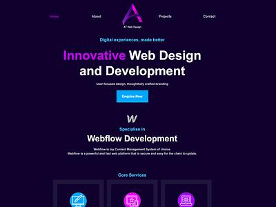 My New Portfolio Site - AT Web Design adobe xd design adobe xd webflow webdeveloper ux ui website portfolio site portfolio freelance design freelancer webdesigner webdesign web design