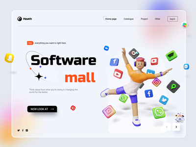 Software mall graphic design typography web ui design