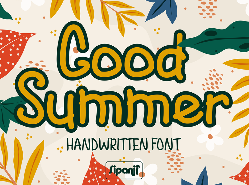 Good Summer a Handwritten Font packaging logo funnyfont created branding font cute font fancy font display typeface display font