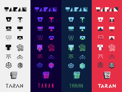 Taran Armstrong Logo Concepts glyph geometric sketches illustration icons brand identity identity brand design brand logo design logo