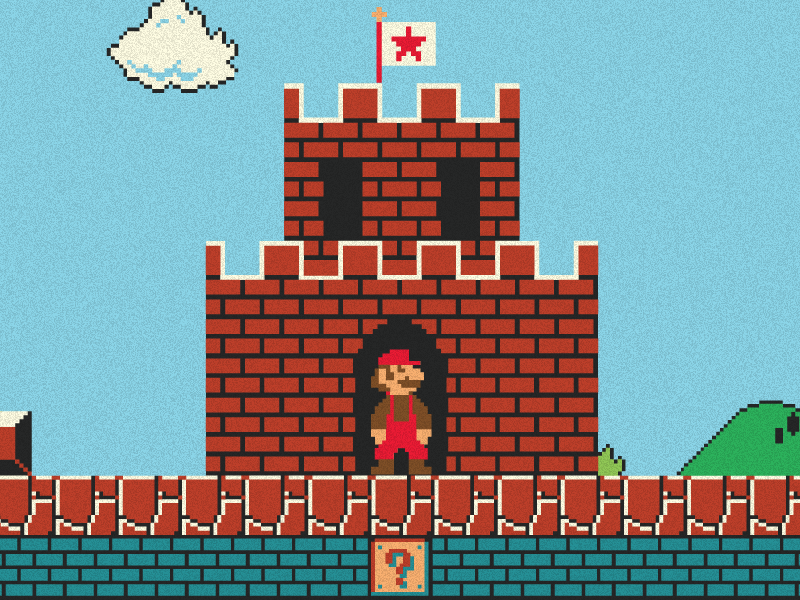 Super Mario WIP nintendo 8bit retro game pixels mario sprites nes poster level one super mario bros