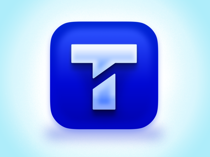 Textline Icon for MacOS Big Sur figma skeumorphism blue mac os text chat big sur app 3d logo icon design textline icon