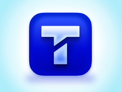 Textline Icon for MacOS Big Sur figma skeumorphism blue mac os text chat big sur app 3d logo icon design textline icon