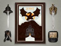 The Hobbit Screen Print