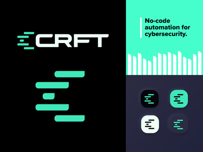 CRFT Logo Refined automation security app security green brand design brand logomark logo