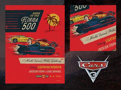 Cars 3 Poster cars 3 poster movie film red wacom photoshop pixar disney illustration