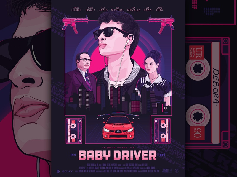 Baby driver dribbble
