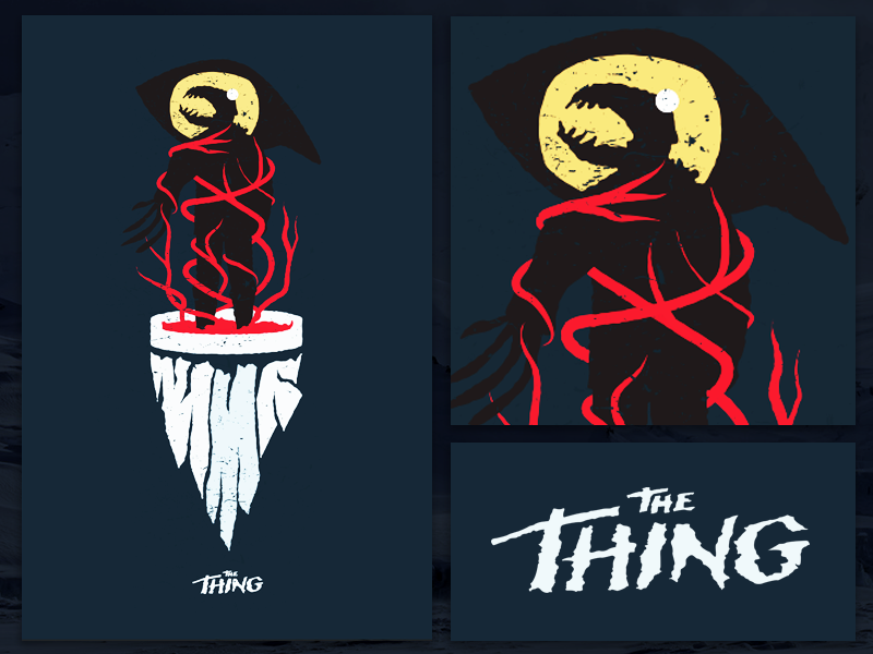 The Thing Poster the thing science fiction horror poster film movie