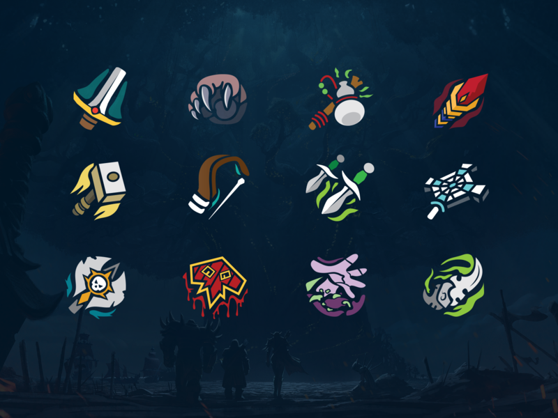 World of Warcraft Vector Class Icons by Harlan Elam on Dribbble