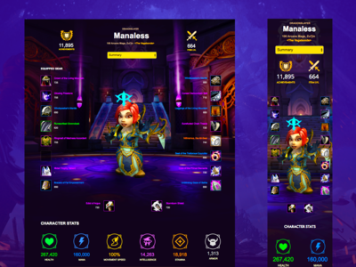 World of Warcraft Responsive Profile