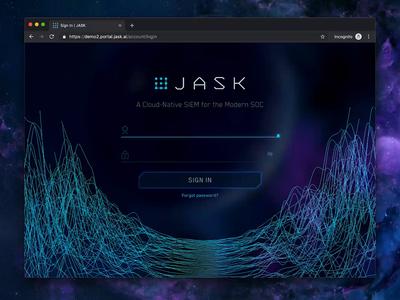 JASK Login Screen