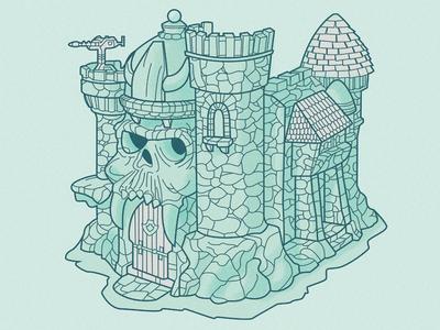 Castle Grayskull Color WIP by