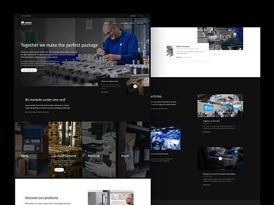 Concept - Audion concept dark landing hero corporate ux ui minimal digital design clean
