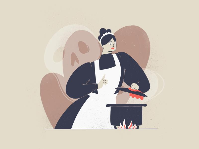 Little Murder - 5 character ipadpro procreate illustration