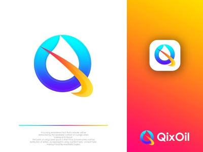Modern Q Letter logo for a Oil Company. modern logo design icon design q letter design gradient q logo q logo idea abstract q logo q with oil logo q letter logo oil logo modern q logo modern design abstract logo abstract art modern lettering business logo gradient logo colorful logo logo design brand identity modern logo