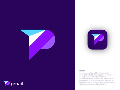 Modern P Logo for a mail Application. graphicdesign modern logo design icon design p letter design messenger logo mail logo pmail logo modern p logo p logo abstract logo abstract art professional logo modern lettering business logo gradient logo colorful logo logo design brand identity modern logo