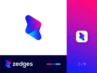 Modern Z Lettermark with Arrows modern z with arrow logo abstract z logo z with arrows arrows z letter z lettermark z letter logo modern z logo abstract logo abstract art professional logo modern lettering business logo gradient logo colorful logo logo design brand identity modern logo